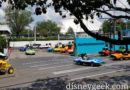 Cast Members testing Tomorrowland Speedway Cars, reopening in a couple weeks