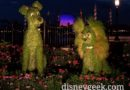 Lady & the Tramp Topiaries in Epcot