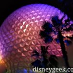 Spaceship Earth as I was exiting Epcot