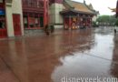 Raining in China at Epcot