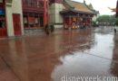 Raining in China at Epcot