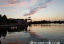 Sunset at Epcot World Showcase
