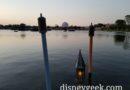 Spaceship Earth Across World Showcase Lagoon at Epcot