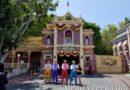 Dapper Dans of Disneyland performing in Town Square