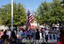 Paused for the nightly Flag Retreat Ceremony in Town Square