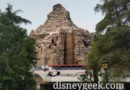 Disneyland Monorail Orange cruising by the Matterhorn