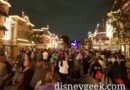 Main Street USA  – 12 minutes until Mickey's Mix Magic