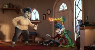 "BAD DRAGON – In Disney and Pixar's ""Onward,"" Ian Lightfoot's mom has his back—even when his hyperactive pet dragon, Blazey, is misbehaving. Featuring Julia Louis-Dreyfus as the voice of Mom, and Tom Holland as the voice of Ian, ""Onward"" opens in U.S. theaters on March 6, 2020."
