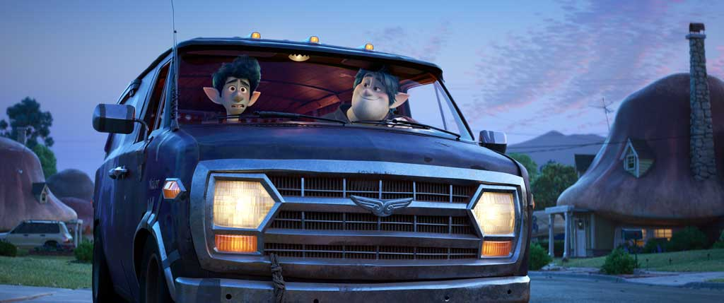 "OH BROTHERS – In Disney and Pixar's ""Onward,"" two teenage elf brothers embark on an extraordinary quest in a van named Guinevere to discover if there is still a little magic left in the world. Featuring Tom Holland as the voice of Ian Lightfoot, and Chris Pratt as the voice of Ian's older brother, Barley, ""Onward"" opens in U.S. theaters on March 6, 2020."