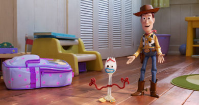 "NEW FRIEND! – In Disney and Pixar's ""Toy Story 4,"" Bonnie makes a new friend in kindergarten orientation—literally. When Forky—Bonnie's craft-project-turned-toy—declares himself trash and not a toy, Woody takes it upon himself to show Forky why he should embrace being a toy. Featuring the voices of Tony Hale and Tom Hanks as Forky and Woody, ""Toy Story 4"" opens in U.S. theaters on June 21, 2019."