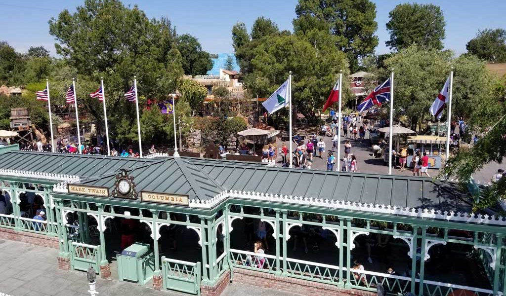 Pictures: Historic American Flags of Frontierland Landing at Disneyland