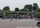 Disneyland entry lines this morning  about 15 min before park opening