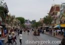Disneyland Main Street USA this morning