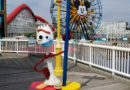 Forky on Pixar Pier near the Lamplight Lounge