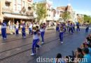 2019 Disneyland Resort All-American College Band performing on Main Street USA