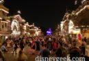 Main Street USA 15 min before Disneyland Forever