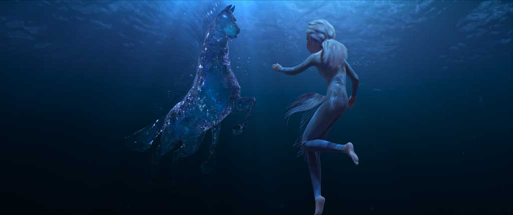 "In Walt Disney Animation Studios' ""Frozen 2, Elsa encounters a Nokk—a mythical water spirit that takes the form of a horse—who uses the power of the ocean to guard the secrets of the forest. Featuring the voice of Idina Menzel as Elsa, ""Frozen 2"" opens in U.S. theaters November 22."