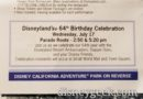 Disneyland 64th Birthday Celebration Information in Times Guide