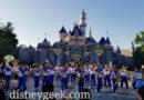 Disneyland 2019 All-American College Band performing at Sleeping Beauty Castle