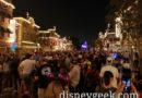 Main Street USA just before the lights went out for Disneyland Forever