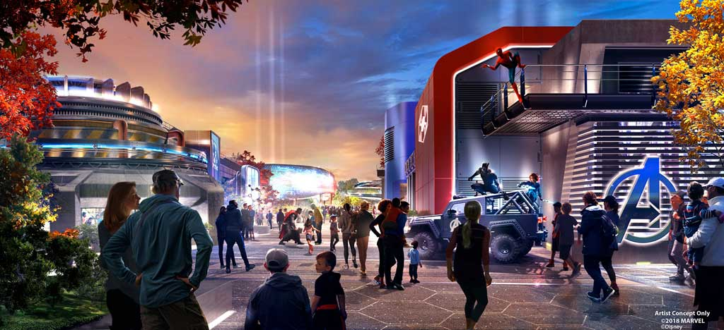 Walt Disney Studios Park at Disneyland Paris Marvel Entry Concept Art