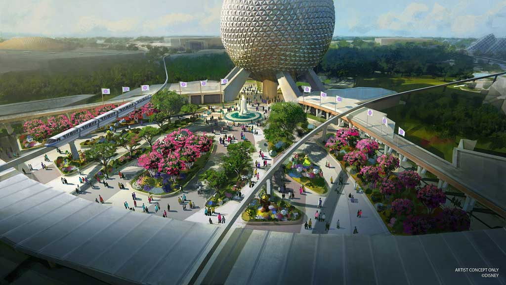 Epcot Entrance Concept Art