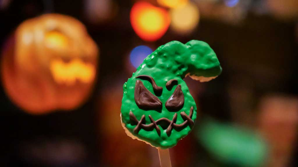 This Oogie Boogie-inspired rice crispy treat can be found at the Candy Palace, Pooh Corner and Marceline's Confectionery at Disneyland Park and at Trolley Treats and Bing Bong's Sweet Stuff at Disney California Adventure Park. (David Nguyen/Disneyland Resort)