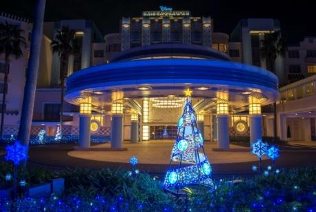 Christmas illuminations at Disney Ambassador Hotel