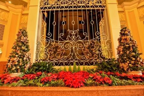 Christmas decorations at Tokyo Disneyland Hotel