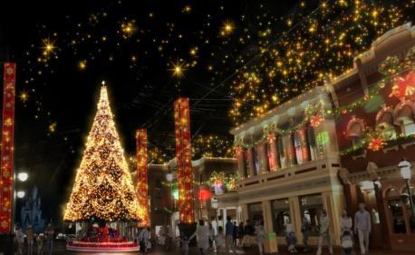 World Bazaar nighttime illumination