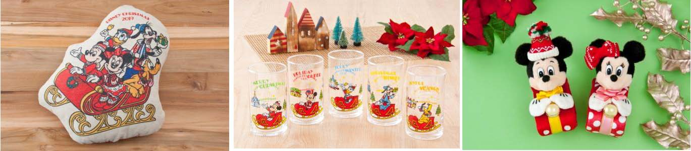 Cushion 2,300 yen / Drinking Glass Set 2,200 yen / Plush Band 1,700 yen each