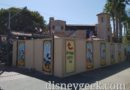 Pictures: Red Car Trolley Buena Vista Street Stop Behind Walls