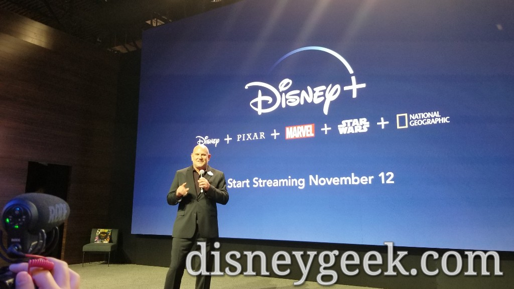 Michael Vargo vice president of D23, Special Events, and Disney Corporate Creative Resources Welcoming Media to the D23 Expo