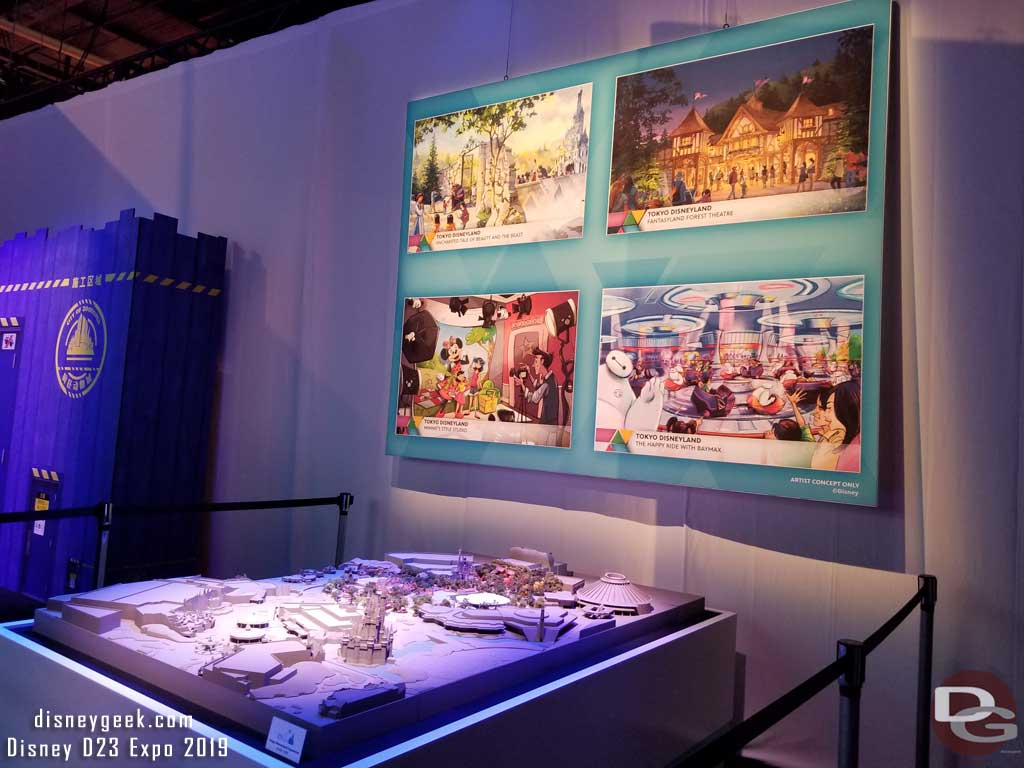 Model of the Tokyo Disneyland Fantasyland Expansion Project