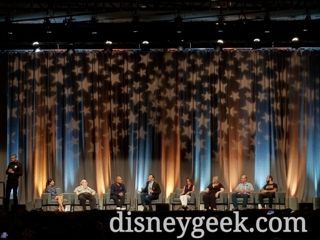 The panel included ABC7 helicopter reporter Chris Cristi, Walt Disney Imagineering construction manager Kristina Dewberry, legendary Disney animator Eric Goldberg, Golden Oak Ranch senior manager Steve Sligh, and long-running Radio Disney Network talent Candice Valdez