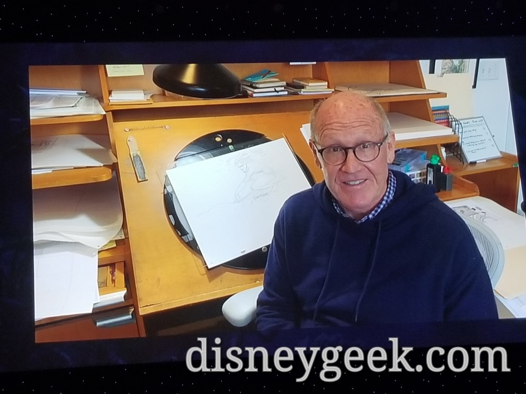 A video message from Disney Animation Legend Glenn Keane who was unable to attend.