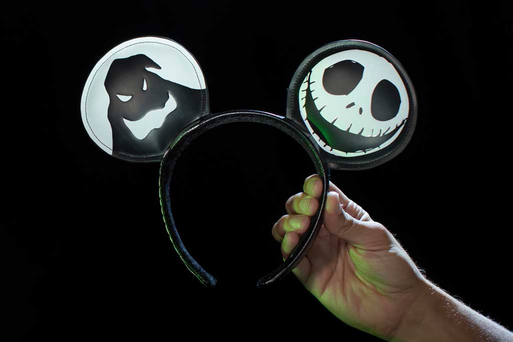 "Jack Skellington headband inspired by ""Tim Burton's The Nightmare Before Christmas"" found at Elias & Co. at Disney California Adventure Park, Port Royal at Disneyland Park and at World of Disney in the Downtown Disney District. (Joshua Sudock/Disneyland Resort)"