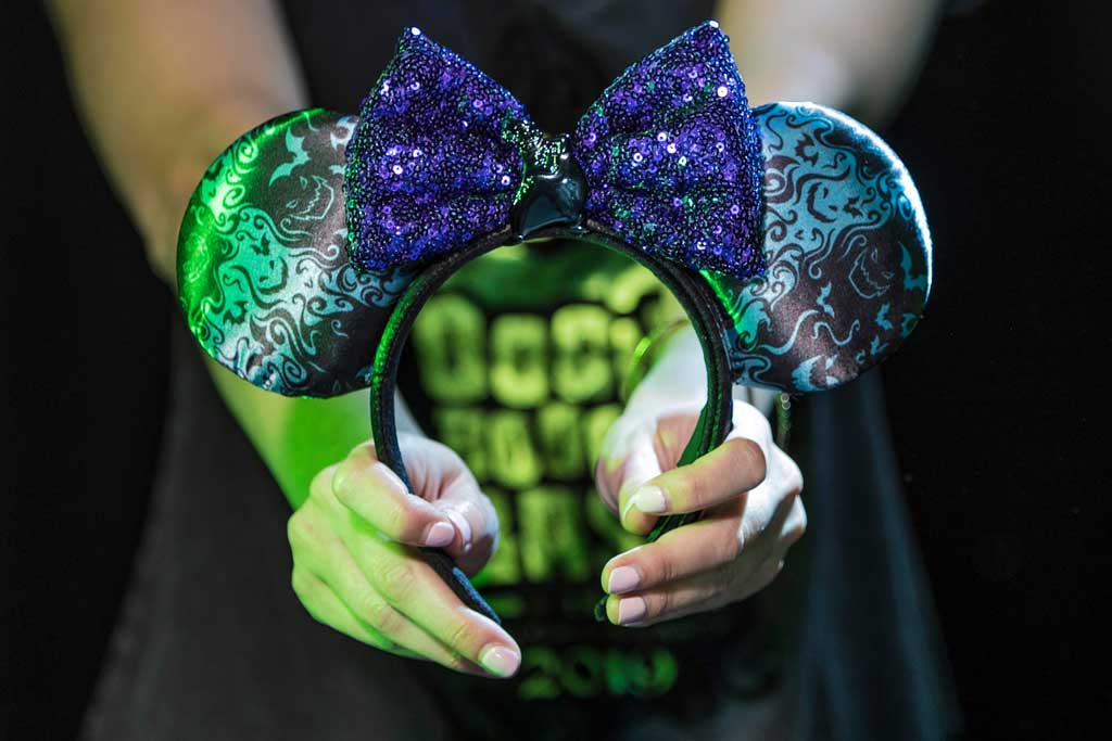 Oogie Boogie Bash headband found at Elias & Co. and Gone Hollywood at Disney California Adventure Park. (Joshua Sudock/Disneyland Resort)