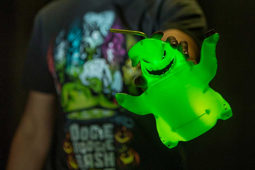 Light-up Oogie Boogie Bash sipper found at Elias & Co. and Gone Hollywood at Disney California Adventure Park. (Joshua Sudock/Disneyland Resort)