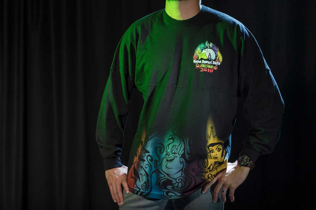 Oogie Boogie Bash Spirit Jersey found at Elias & Co. and Gone Hollywood at Disney California Adventure Park. (Joshua Sudock/Disneyland Resort)