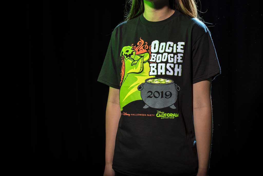 Oogie Boogie Bash youth tee found at Elias & Co. and Gone Hollywood at Disney California Adventure Park. (Joshua Sudock/Disneyland Resort)