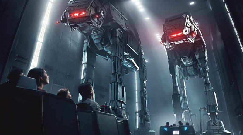 Disney guests will traverse the corridors of a Star Destroyer and join an epic battle between the First Order and the Resistance - including a faceoff with Kylo Ren - when Star Wars: Rise of the Resistance opens Dec. 5, 2019, at Walt Disney World Resort in Florida and Jan. 17, 2020, at Disneyland Resort in California. At 14 acres each, Star Wars: Galaxy's Edge at Disneyland, now open, and at Disney's Hollywood Studios, opening Aug. 29, 2019, is Disney's largest single-themed land expansion ever. (Disney Parks)
