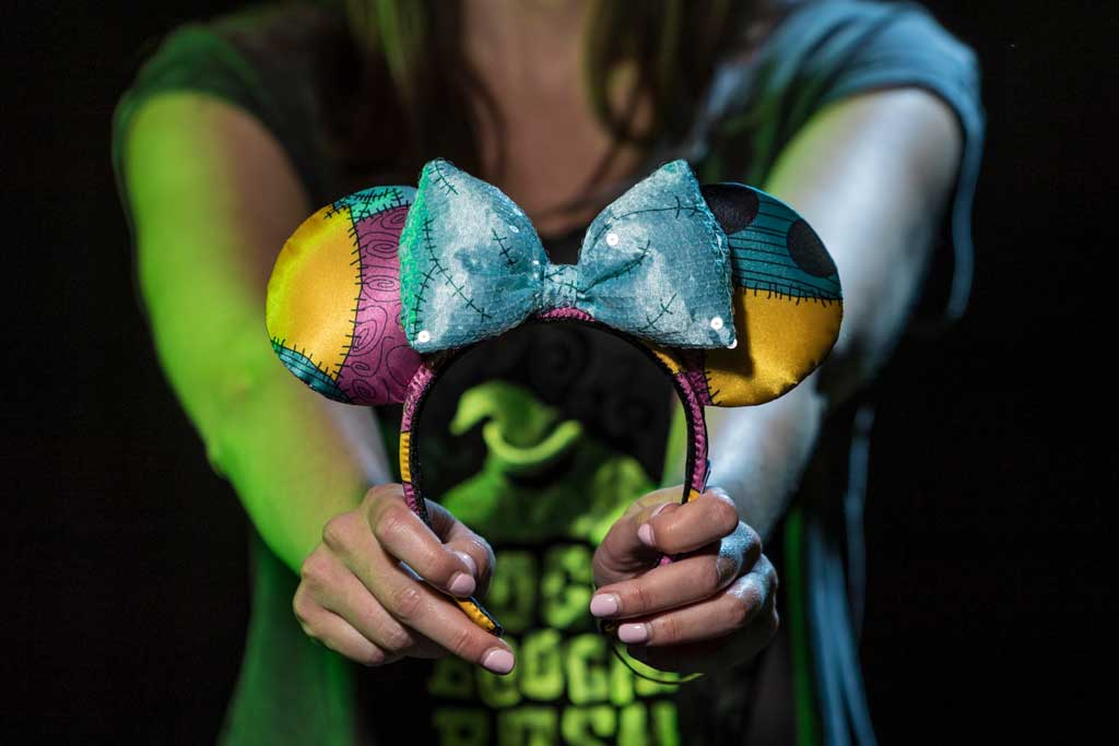 "Sally headband inspired by ""Tim Burton's The Nightmare Before Christmas"" found at Elias & Co. at Disney California Adventure Park, Port Royal at Disneyland Park and at World of Disney in the Downtown Disney District. (Joshua Sudock/Disneyland Resort)"