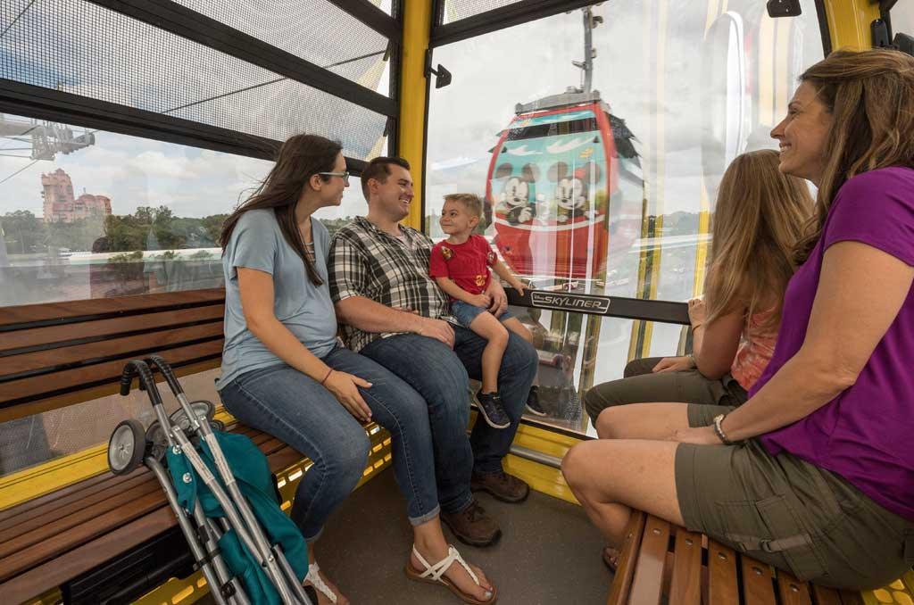 Disney Skyliner will begin carrying guests high above Walt Disney World Resort in Lake Buena Vista, Fla., on Sept. 29, 2019. The state-of-the-art transportation system will feature custom cabins that glide through the air, conveniently transporting guests between Disney's Hollywood Studios and Epcot to four resort hotels – Disney's Art of Animation Resort, Disney's Caribbean Beach Resort, Disney's Pop Century Resort and the new Disney's Riviera Resort, scheduled to open in December 2019. (Kent Phillips, Photographer)