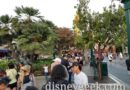 Buena Vista Street popcorn line stretches past Storytellers Statue