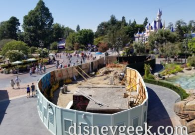 Pictures & Video: Disneyland Tomorrowland Entrance/Hub Work