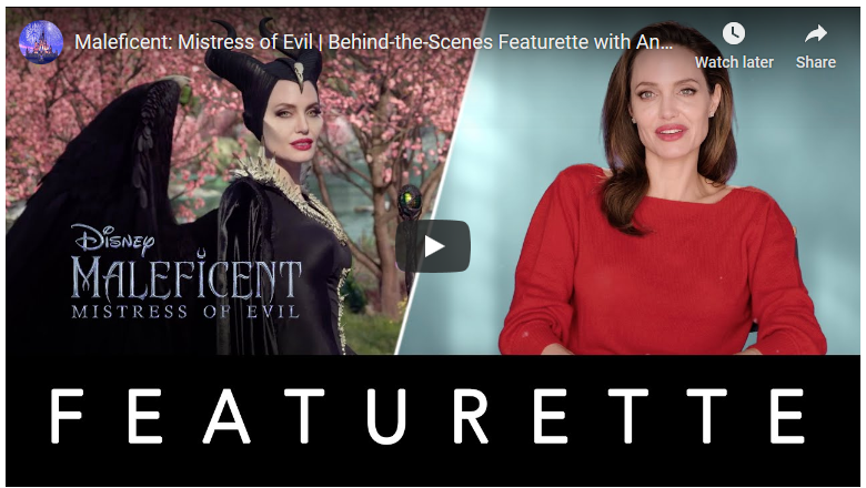 Maleficent Mistress of Evil – Behind the Scenes Featurette