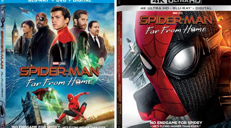 SpiderMan Far From Home Home Video Boxart
