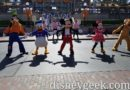 Goofy, Donald, Mickey, Minnie & Pluto Performing in Town Square with Disneyland Band & Dapper Dans