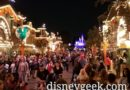 Disneyland Main Street USA at 7:30pm